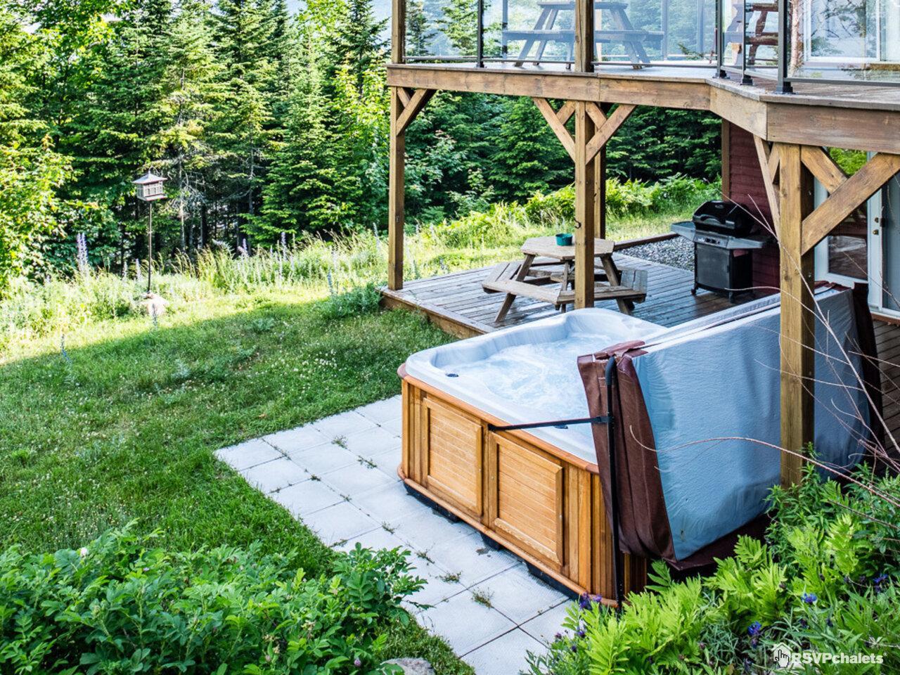Chalet louer condo ski nature jardin avec spa petite for Jardin potager a louer 78